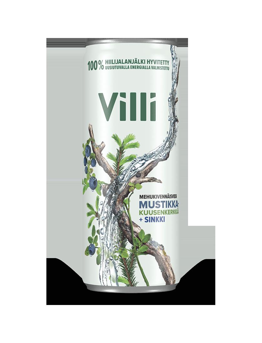 Villi Mehukivennäisvesi mustikka-kuusenkerkkä -juoma