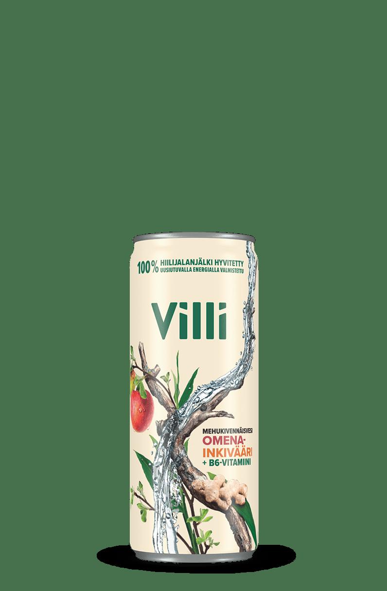 Villi Mehukivennäisvesi omena-inkivääri -juoma