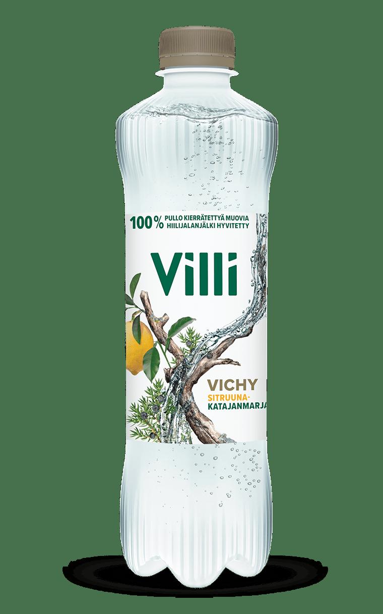 Villi Vichy sitruuna-katajanmarja -juoma