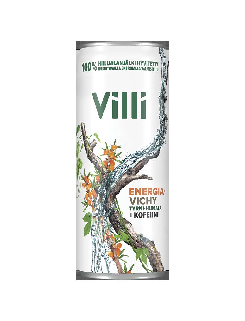 Villi Energiavichy tyrni-humala + kofeiini -juoma